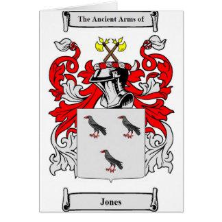 Escudo de armas (inglés) de Jones Tarjeta De Felicitación