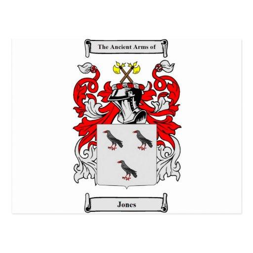 Escudo de armas (inglés) de Jones Tarjetas Postales