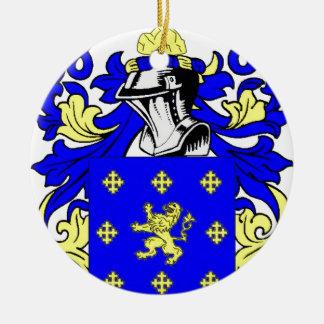 Escudo de armas (inglés) de Jordania Adorno Navideño Redondo De Cerámica
