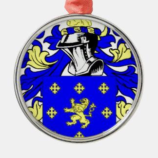 Escudo de armas (inglés) de Jordania Adorno Navideño Redondo De Metal