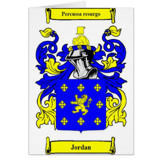 Escudo de armas (inglés) de Jordania Tarjeta De Felicitación