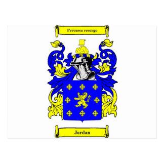 Escudo de armas (inglés) de Jordania Tarjetas Postales