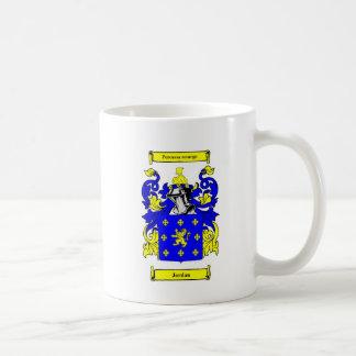 Escudo de armas (inglés) de Jordania Taza De Café