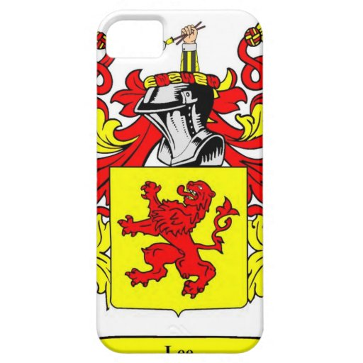 Escudo de armas (inglés) de Lee iPhone 5 Case-Mate Protectores