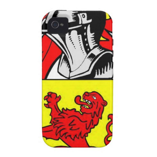 Escudo de armas (inglés) de Lee Case-Mate iPhone 4 Funda