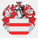 Escudo de armas (inglés) de Martin Pegatinas Redondas