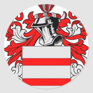 Escudo de armas (inglés) de Martin Pegatina Redonda