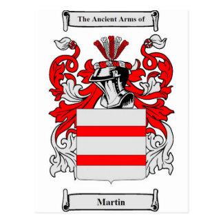 Escudo de armas (inglés) de Martin Tarjetas Postales