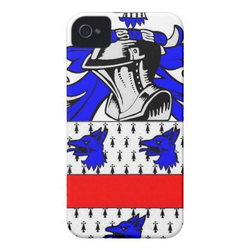 Escudo de armas (inglés) de Miller Case-Mate iPhone 4 Cárcasa