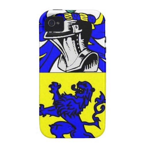 Escudo de armas (inglés) del albañil iPhone 4 carcasas