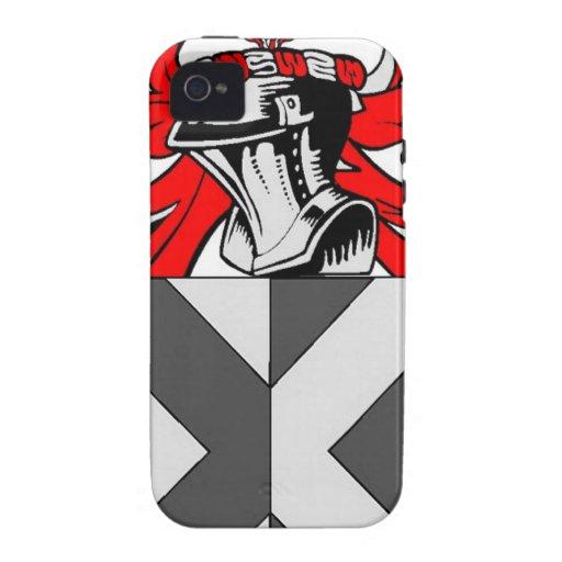 Escudo de armas (inglés) del cazador Case-Mate iPhone 4 carcasas