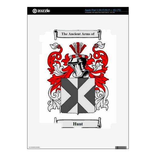 Escudo de armas (inglés) del cazador iPad 3 skin
