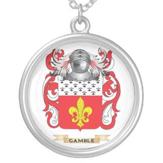 Escudo de armas (inglés) del juego (escudo de la f colgante redondo