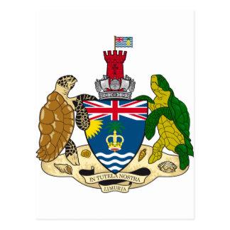 Escudo de armas IO del territorio del Océano Tarjeta Postal