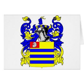 Escudo de armas (irlandés) de $cox tarjeta de felicitación