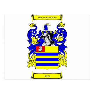 Escudo de armas (irlandés) de $cox tarjetas postales