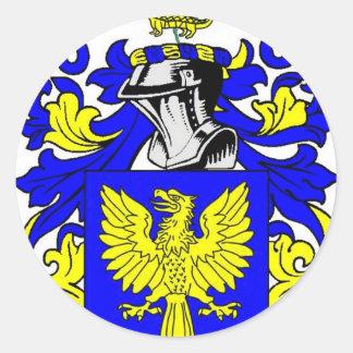Escudo de armas (irlandés) de Dunn Pegatina Redonda