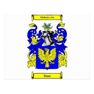 Escudo de armas (irlandés) de Dunn Tarjetas Postales