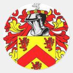 Escudo de armas (irlandés) de Hughes Pegatinas Redondas