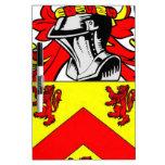 Escudo de armas (irlandés) de Hughes Pizarras Blancas
