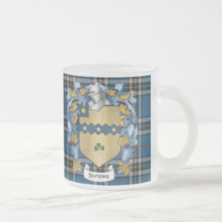 Escudo de armas (irlandés) de la familia de taza cristal mate