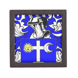 Escudo de armas (irlandés) de Martin Cajas De Joyas De Calidad