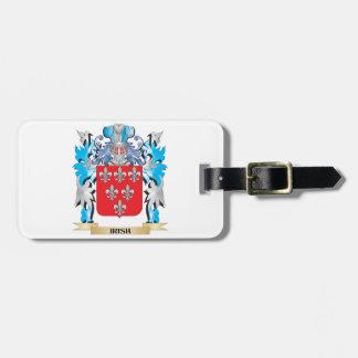 Escudo de armas irlandés - escudo de la familia etiquetas de maletas