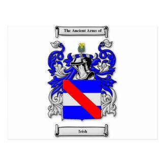 Escudo de armas irlandés postal