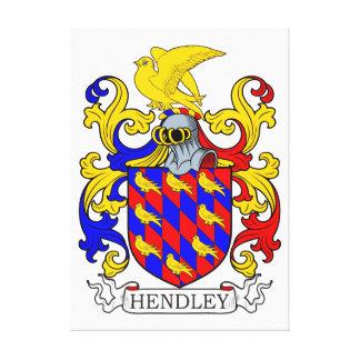 Escudo de armas IV de Hendley Impresión De Lienzo