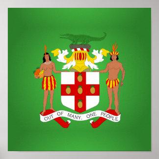 Escudo de armas jamaicano poster