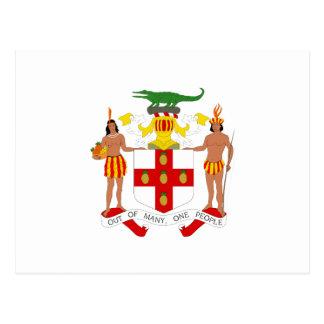 Escudo de armas jamaicano tarjetas postales