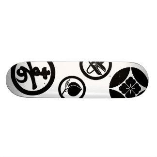 "Escudo de armas japonés de la familia patineta 8 1/8"""