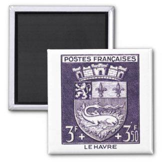 Escudo de armas, La Havre Francia Imán Cuadrado