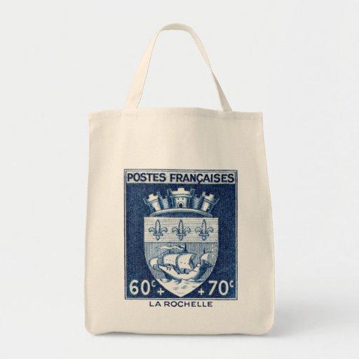 Escudo de armas, La Rochelle Francia Bolsa Tela Para La Compra