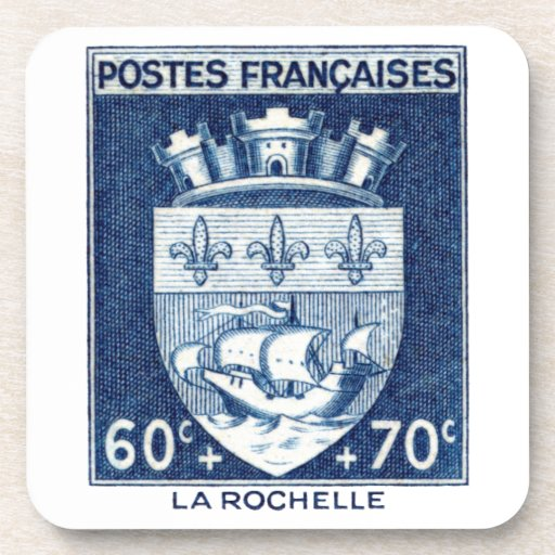 Escudo de armas, La Rochelle Francia Posavasos De Bebida