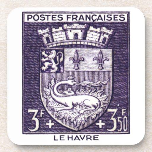 Escudo de armas, Le HavreFrance Posavasos De Bebida