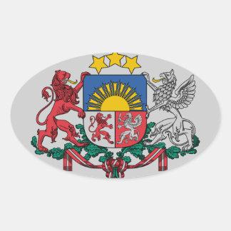 Escudo de armas letón pegatina ovalada