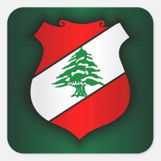 Escudo de armas libanés pegatina cuadrada