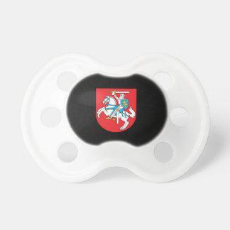 Escudo de armas lituano chupete de bebe