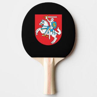 Escudo de armas lituano pala de tenis de mesa