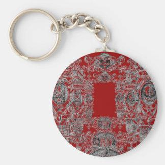 Escudo de armas llavero redondo tipo pin