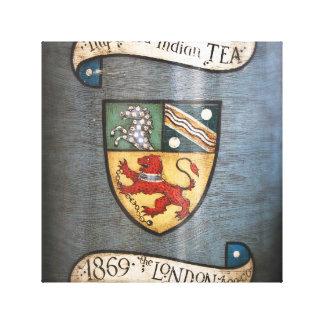 escudo de armas Londres del tarro del té del Impresiones De Lienzo