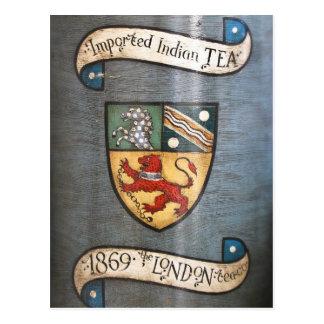 escudo de armas Londres del tarro del té del Postal