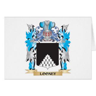 Escudo de armas Looney - escudo de la familia Tarjeta Pequeña
