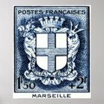 Escudo de armas, Marsella Francia Impresiones