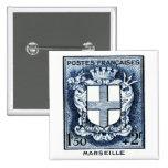 Escudo de armas, Marsella Francia Pins