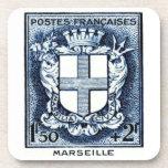 Escudo de armas, Marsella Francia Posavaso