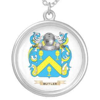 Escudo de armas Mayordomo-Inglés (escudo de la fam Colgante Redondo