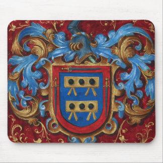 Escudo de armas medieval alfombrillas de ratones