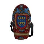 Escudo de armas medieval bolsa de mensajeria